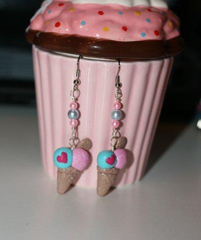 orecchini gelato con cialda
