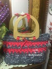 Maxi bag in fettuccia modello Lucille