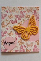 Biglietto Auguri - Farfalla Gialla