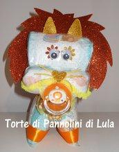 Torta di pannolini Pampers Leone cucciolo animale Idea regalo utile originale per nascita battesimo o compleanno