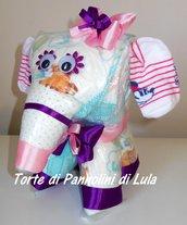 Torta di pannolini Pampers elefante cucciolo animale Idea regalo utile originale per nascita battesimo o compleanno