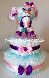Torta di pannolini grande Pampers elefante cucciolo animale Idea regalo utile originale per nascita battesimo o compleanno