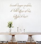 Frase adesiva vino per pareti