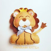 Bomboniera nascita baby leone in feltro Handmade KriTiLo