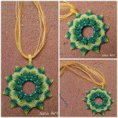 Collana Fiore di mandala con perline