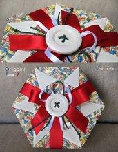 SCATOLA IN ORIGAMI 2 - box portagioie bomboniera confezione regalo