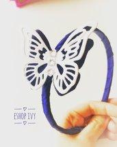 Cerchietti bimba farfalla personalizzato nei colori