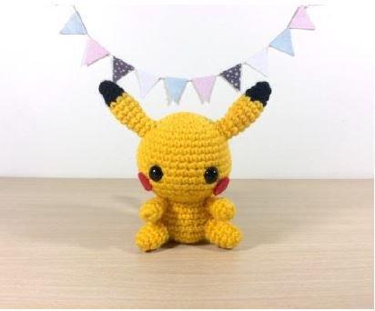 Schema italiano Pikachu uncinetto amigurumi