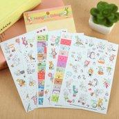 "Stickers 6 fogli set ""Sticker rabbit diary"""