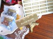 "Etichette 40 pezzi set ""Hand made"""