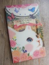 "Stickers 8 pezzi set ""Choo Choo Cat"" con custodia"
