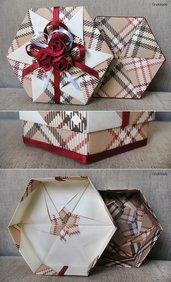 SCATOLA IN ORIGAMI 15 - box portagioie bomboniera regalo