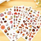 """Stickers 6 fogli set """"cibo delizioso"""""""