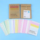 """Stickers 27 pezzi set """"mascking tape"""""""