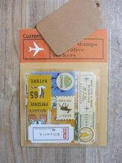 "Stickers 22 pezzi set ""travel's"" per Midori"