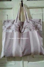 Borsa per spesa o spiaggia-Shopping bag country chic
