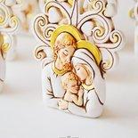 Bomboniera albero della vita con sacra famiglia per battesimo