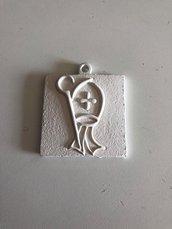 Quadretto con icona santa cresima fai da te gesso ceramico