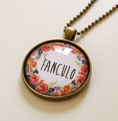 Collana Fanculo Floreale Red