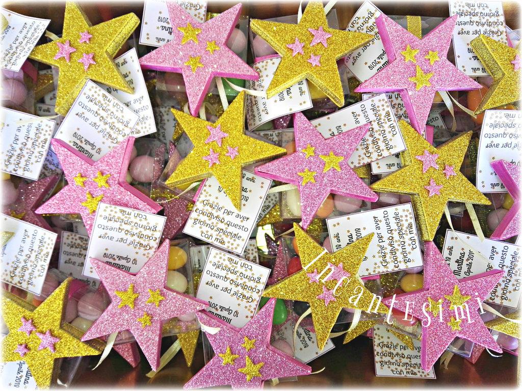 Stelle calamite, bomboniere 18 anni, bomboniere compleanno, stelle segnaposto, confettata per compleanno, regalo fine festa
