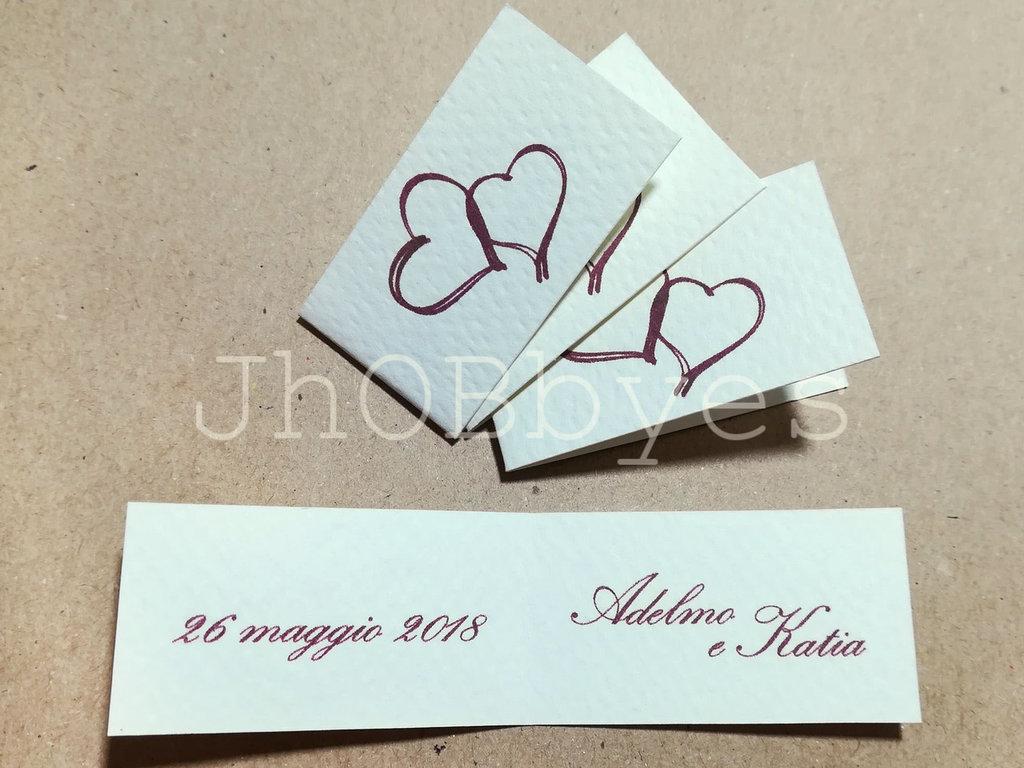Bigliettini Matrimonio Bomboniere.Bigliettini Bomboniera Matrimonio Feste Matrimonio Di