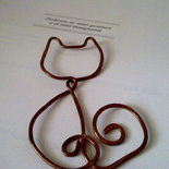 segnalibro a forma di gatto lavorazione  wire