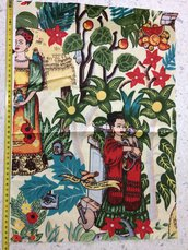 Stoffa Frida Kahlo  - (codice 5) - 47x32 cm.