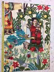 Stoffa Frida Kahlo  - (codice 10) - 46x32 cm.