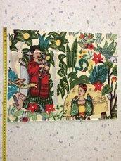 Stoffa Frida Kahlo  - (codice 80) - 40x33 cm.