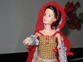 Istruzioni pdf per realizzare all'uncinetto e con le perline una bito per Barbie