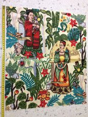 Stoffa Frida Kahlo  - (codice 3) - 50x42 cm.