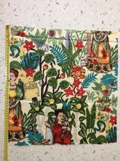 Stoffa Frida Kahlo  - (codice 2) - 48x45 cm.