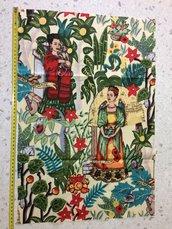 Stoffa Frida Kahlo  - (codice 1) - 60x40 cm.