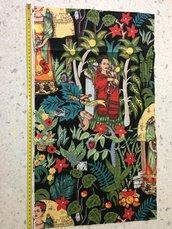 Stoffa Frida Kahlo  - (codice 11) - 34x63 cm.