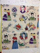 Stoffa Frida Kahlo  - (codice 38) - 54x46 cm.