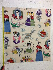 Stoffa Frida Kahlo  - (codice 48) - 54x46 cm.