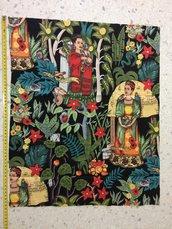 Stoffa Frida Kahlo  - (codice 17) - 58x48 cm.