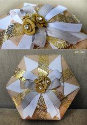 SCATOLA IN ORIGAMI 22 - box portagioie bomboniera regalo