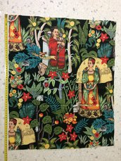 Stoffa Frida Kahlo  - (codice 15) - 49x60 cm.