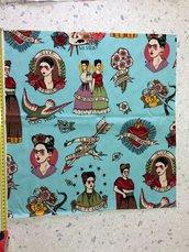 Stoffa Frida Kahlo  - (codice 31) - 48x50 cm.