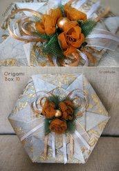 SCATOLA IN ORIGAMI 10 - box portagioie bomboniera regalo