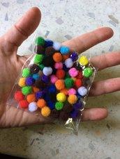 Sacchetto di Mini Pom Pom Assortiti
