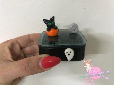 Scatolina porta gioie in resina e fimo Halloween