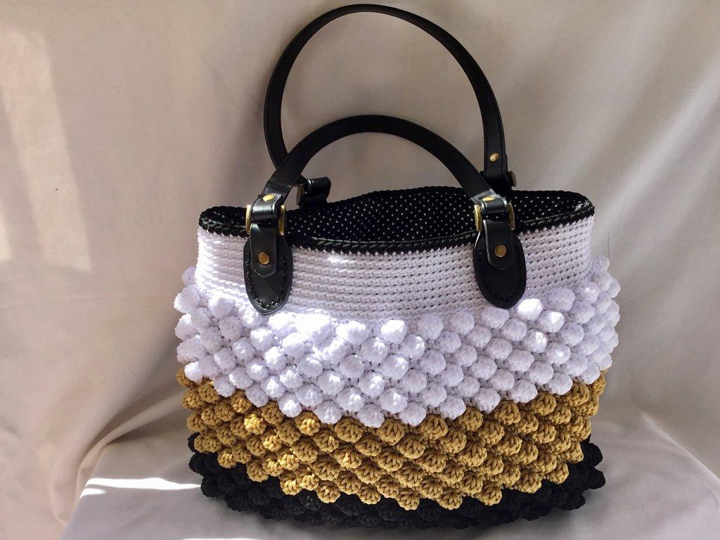Borsa Fatta A Mano Crochet Bag Donna Borse Di Mel Handmade