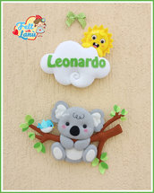 Fiocco Nascita Koala