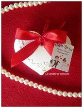 Segnaposto Matrimonio/Promessa/Nozze d'argento/Nozze d'oro cuore gessetto profumato