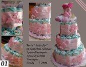 "Torta Pannolini ""Butterfly"""