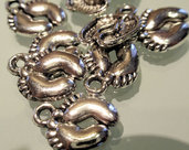 5 charms coppia piedini tibetan silver