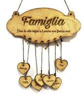Targa in legno famiglia