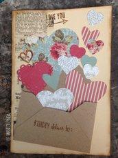 Biglietto San Valentino - LOVE - auguri - busta matrimonio